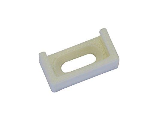 Gardinia Träger für Falzmontage weiß, Plastik, 1.5 x 1 x 0.5 cm, 4-Einheiten