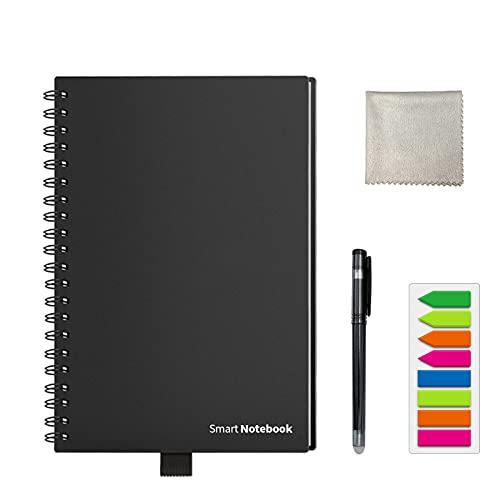 HOMESTEC - Cuaderno inteligente reutilizable A5 - Bolígrafo incluido - 210 x 148...