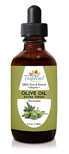 Extra Virgin Organic Olive Oil 4 oz - Cold Pressed Unrefined - Use For Face, Baby Skin, Hair, Dry Scalp, Massage