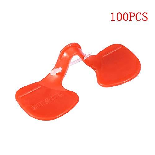 TOPINCN Pollo Ojos Gafas Gafas Protector Anti-Ácaro de Segunda generación Máscara de Ojo de Pollo Grande gallina Prevención de picoteo para Aves de Corral 100 unids
