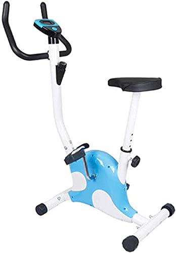 Bicicleta estática Deportes Interior de Bicicleta con Pedal de Pantalla LED Equipo de Entrenamiento de pérdida de Peso para Brazo y Pierna MWSOZ (Color: Azul)-Azul