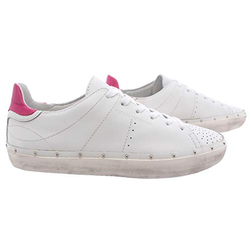 Rebecca Minkoff Chaussure Femme Sneakers 00MI NA01 Michell Nappa White Low New - Blanc, Cuir, 38, 5, 8