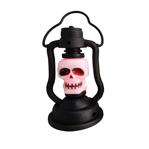 Amosfun Halloween-Totenkopf-Licht mit Griff für Party, Festival, Dekoration, Home Bar