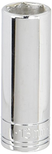 SK Professional Tools 41709 1/4 in. Drive 6-Point Metric Standard Chrome Socket -13mm, Cold Forged Steel Socket with SuperKrome Finish, Made in USA