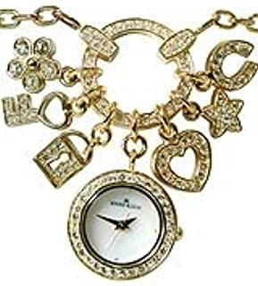 Anne Klein Womens Quartz Watch, Analog Display and Stainless Steel Strap 108374PNDTG