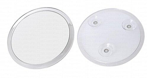 DEUSENFELD SKS1710 - Design Acryl Saugnapf Kosmetikspiegel Vergrößerungsspiegel, ø 16,7cm, 10-Fach Vergrößerung, 3 Saugnäpfe