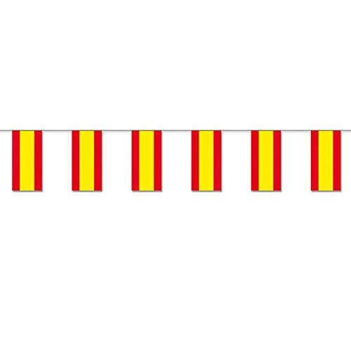 PARTY DISCOUNT Fahnenkette Spanien Flagge, 10 m