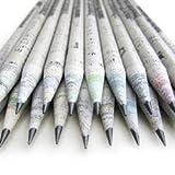Eco-Zeitung Bleistift-30 Stück (1 Packung) 2B aus 100% Recyclingpapier/Zeitungsstift zum...