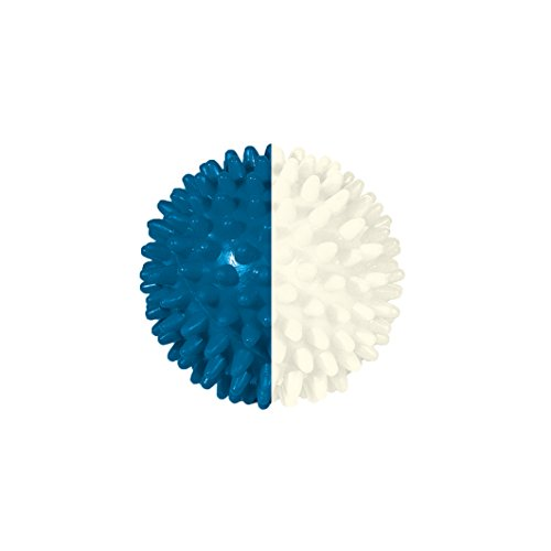 Pflegehome24® Igelball Igel-Ball Noppenball Massageball 7 cm, blau/weiß
