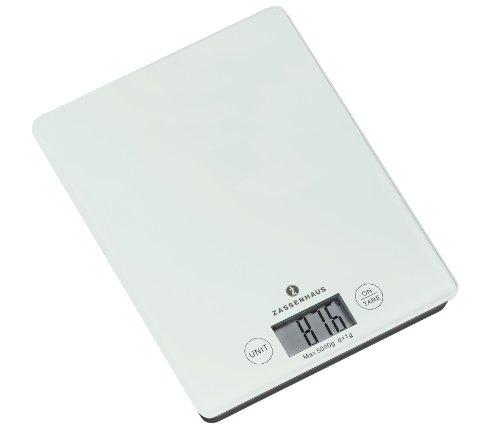 Zassenhaus 73201 Digital-Waage Balance weiß, Höhe 16,5 x 21,5 cm