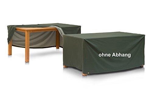 Eigbrecht 146106 Wood Cover Abdeckhaube Schutzhülle für Tischplatten, ohne Abhang rechteckig grün 180x100cm