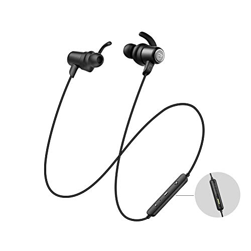 SOUNDPEATS Bluetooth Headphones IPX8 Sweatproof, Wireless Earbuds with Magnetic Charging Contactor, APTX HD Audio CVC Noise Cancellation, 14 Hours Playtime Bluetooth 5.0, Sports Earphones Built-in Mic