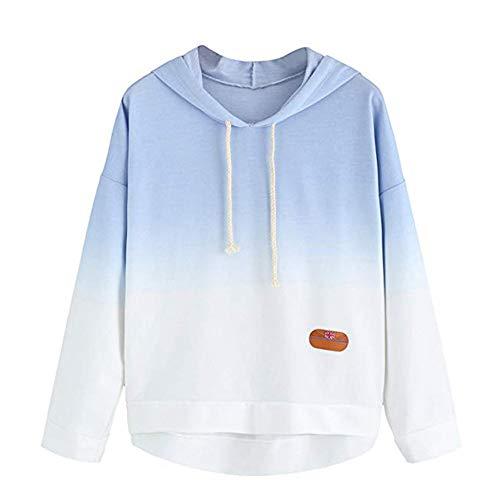 MEIbax Damen Hoodie gedruckt Patchwork Sweatshirt Langarm Pullover Tops Bluse Kapuzenshirt