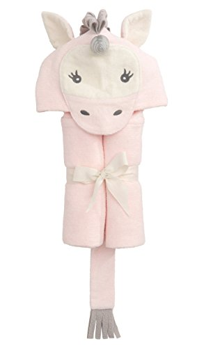 Elegant Baby Top Selling  Bath Gift - Cotton Hooded Towel Wrap, Cute Pink Unicorn