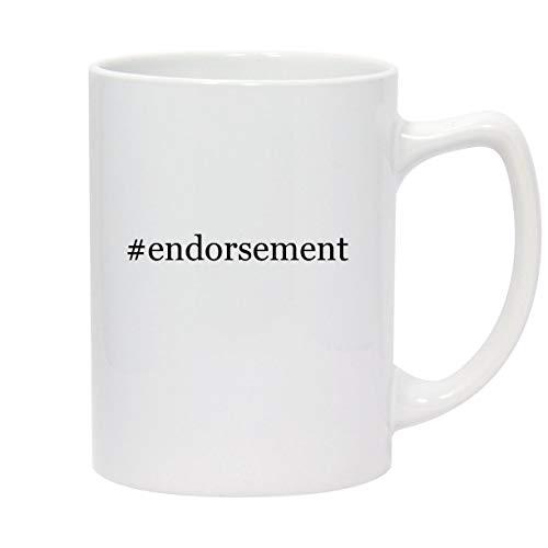 #endorsement - 14oz Hashtag White Ceramic Statesman Coffee Mug