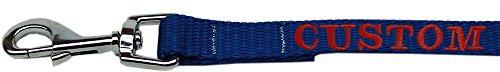 Mirage Pet Products Hundeleine, Nylon, Bestickt, 1,6 x 10,2 cm, Blau