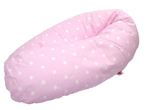 Babymajawelt Federa per cuscino d'allattamento'Stelle piccole/MINI STARS' ca. 190 cm (federa cuscino gravidanza) rosa
