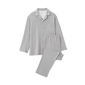 無印良品 脇に縫い目のない スムース編みパジャマ 4550182634334 メンズ グレー 日本 L (日本サイズL相当)