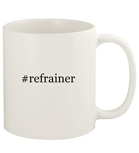 #refrainer - 11oz Hashtag Ceramic White Coffee Mug Cup, White