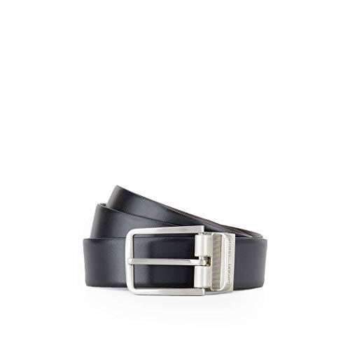 Luxury Fashion | Emporio Armani Heren Y4S222YLQ7E88044 Zwart Leer Riemen | Herfst-winter 19