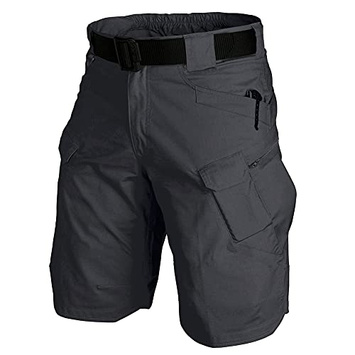 Kolongvangie Men's Lightweight Quick Dry Tactical Shorts Work Hiking Golf Breathable Short with Pockets Expandable Waist