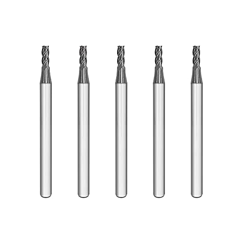 SPEED TIGER ISE Carbide Square End Mill - Micro Grain Carbide End Mill for Alloy Steels/Hardened Steels - 4 Flute - ISE3/32