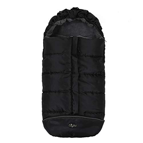 CozyMe Waterproof Ultra Soft Coral Linging Winter Stroller Bunting Bag for Toddler,Easy Temperature Reguration Practical Feature Sleeping Bag for Baby,6M-36M