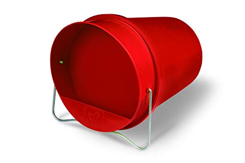 Little Giant Plastic Bucket Waterer for Poultry (1.5 Gallon) Heavy Duty Gravity Fed Water Tank for Chickens (Red) (Item No. PLB15)