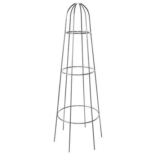 bellissa 1 Stück - Ranksäule London Kegel und Rankhilfe für Gurkenpflanzen und Gemüse – Rank-Gitter, verzinkt 80cm