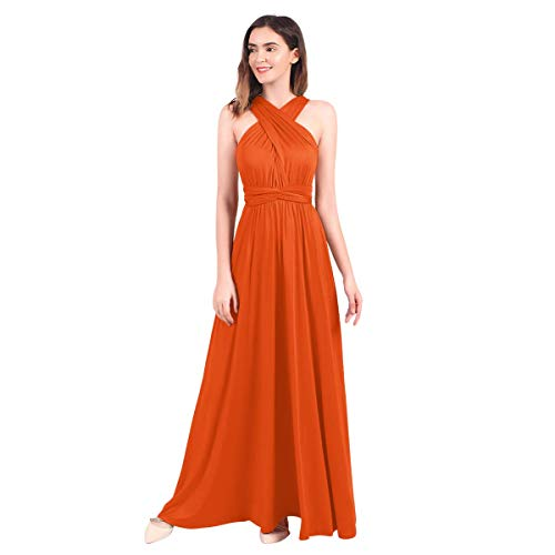 IBTOM CASTLE - Vestito lungo da cerimonia chic, abito Ado, multi-stile sexy, a vita alta, senza...