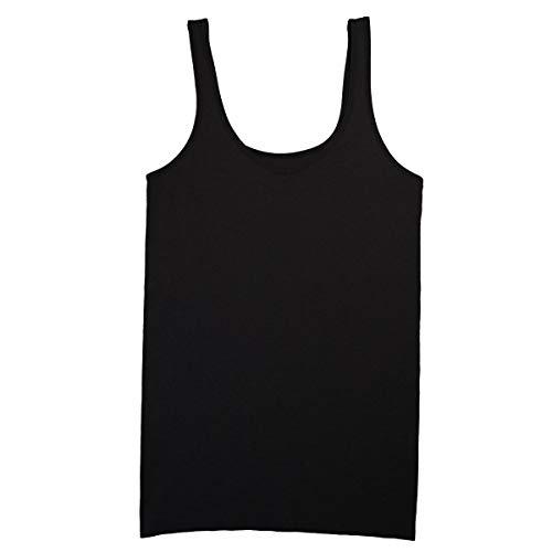 ELLEN TRACY Women's Seamless Reversible Camisole, Black, Large