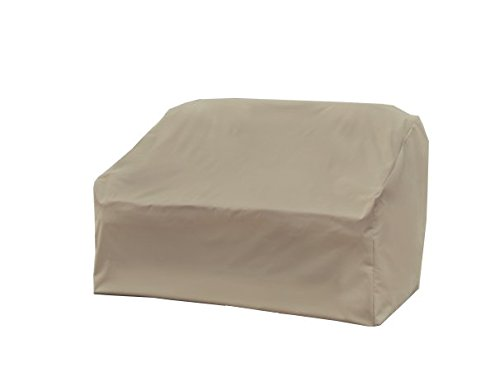 Modern Leisure Resistant (115 L x 76 D x 30 H inches), Beige 5523A Basics Outdoor Patio Love Seat Cover-Water Resi, Pack of 1