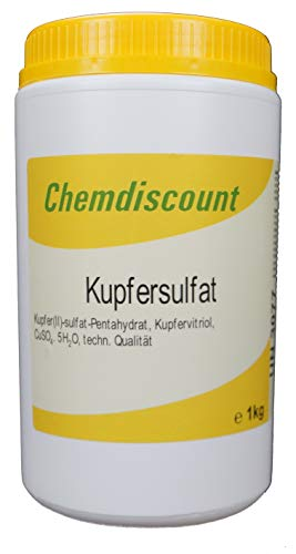 1kg Kupfersulfat(-Pentahydrat) Kupfervitriol CuSO4, in stabiler Dose