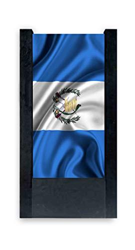 Lámpara de mesa negra con bandera Guatemala