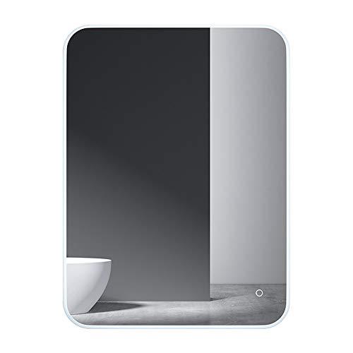 Wandmontage stufenlos dimmen Badezimmerspiegel LED-Lichtspiegel Smart Badezimmerspiegel Aluminiumrahmen Badezimmerspiegel Antibeschlag Spiegel High-End vertikal hängenden Badezimmerspiegel einfach l