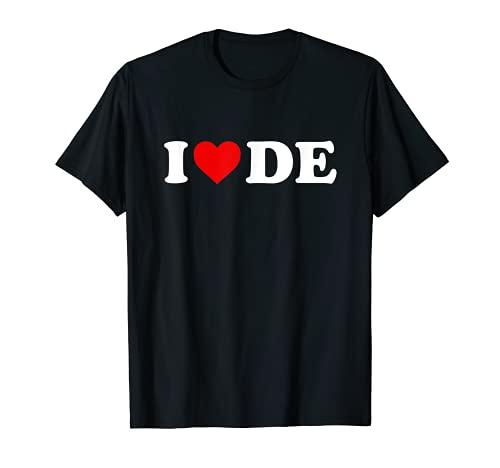 私はDEハートを愛するデラウェア Tシャツ