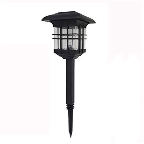 Luces Solares Jardín Lámpara de Camino de Paisaje Columna LED al aire libre Luz solar de la linterna solar del jardín de tierra impermeable de la luz Insertar El Patio de la lámpara de pared de tierra
