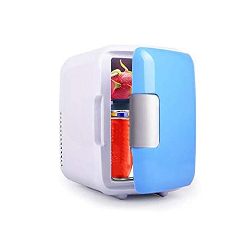 4L Mini Fridge,Mini Fridge for bedrooms Quiet, Fridge Smaller,12V Cigarette Lighter and 220V Socket,for Bedroom,Cosmetics, Offices,Breastmilk, Home and Travel,Blue