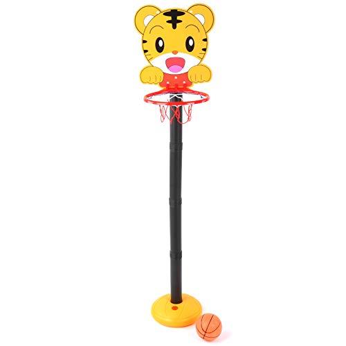 Alomejor 113cm Niños Ajustable Protable Estación de elevación de Baloncesto Juego de aro de Baloncesto con Red y Bola Juego de Juego Deportivo