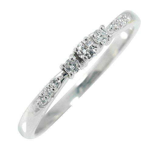 アルマ リング 10金ホワイトゴールド 誕生石 レディース ダイヤモンド 指輪 5号 【180717w12】