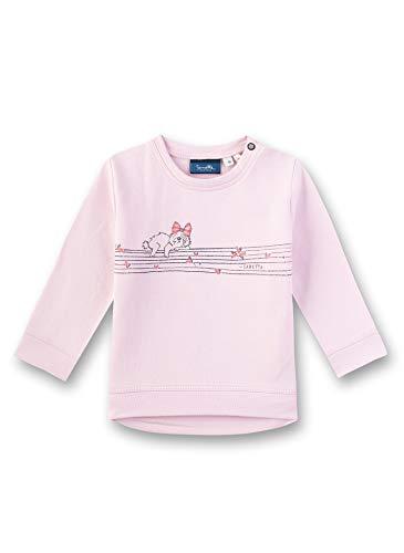 Sanetta Baby-Mädchen Sweatshirt, Rosa (Cherry Blossom 3971), 74 (Herstellergröße: 074)
