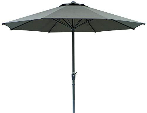 Schneider Sonnenschirm Korsika, braun, 320 cm rund, Gestell Aluminium/Stahl, Bespannung Polyacryl, 8.1 kg