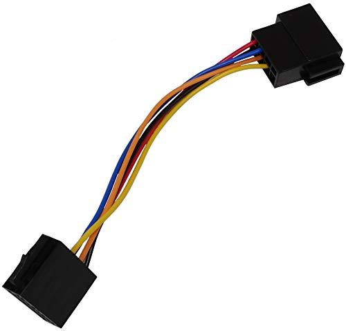 Aerzetix - Connettore prolunga maschio-femmina spina ISO 8 pin poli . Fascio universale per alimentazione autoradio, precablato .
