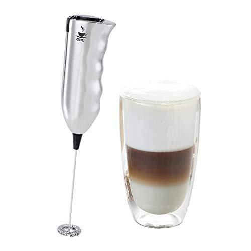 GEFU Milchaufschäumer MARCELLO + Glas Marcello