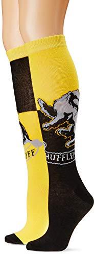 Harry Potter Hufflepuff House Kniestrümpfe, mehrfarbig, Schuhgröße 37-44