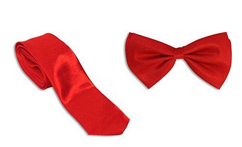 Gravity pour homme Col et nœud papillon Combo - Rouge -