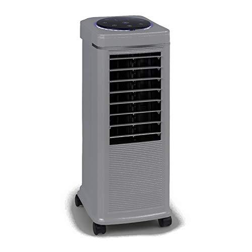 KLARSTEIN Windspiel - Enfriador de Aire 3 en 1, Ventilación, Humidificador, Potencia de 100 W, 8 Niveles, 3 Modos: Normal, Natural y Reposo, Depósito 8 L, Oscilación, Temporizador, Lino
