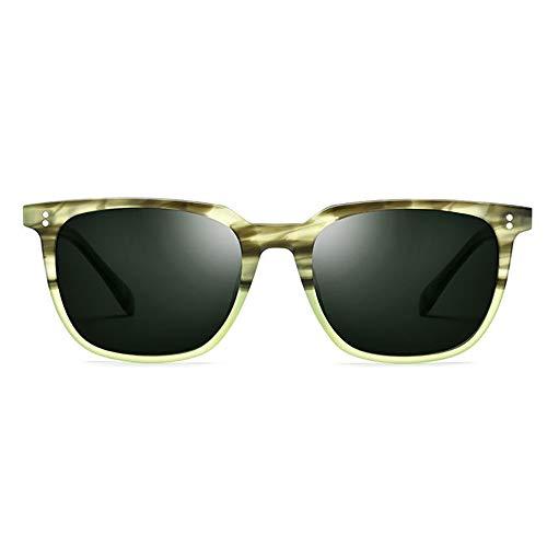 XFSE Gafas de Sol Gafas De Sol Redondas De Alta Graduación for Gafas De Sol Polarizadas for Hombres Protección UV400 De Alta Intensidad (Color : Green)