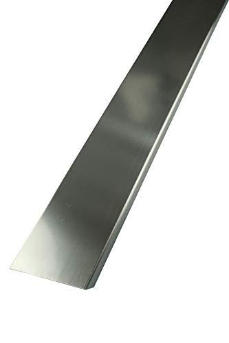 FUCHS Glassteinabschlussprofil für 8cm starke Glassteine – Edelstahl V2A Gebürstet 2,5 m Länge