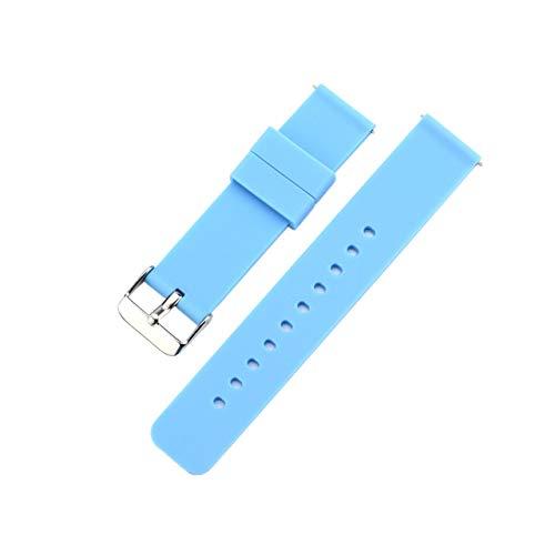 GUANGUA Bracelet en Silicone de Remplacement pour Montre Xiaomi 18 mm pour Bracelet de Mode Huawei B5 / S1 18 mm ASUS